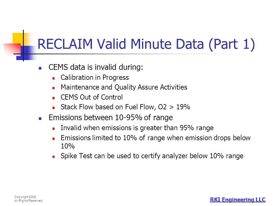 RECLAIM Valid Minute Data (Part 1)