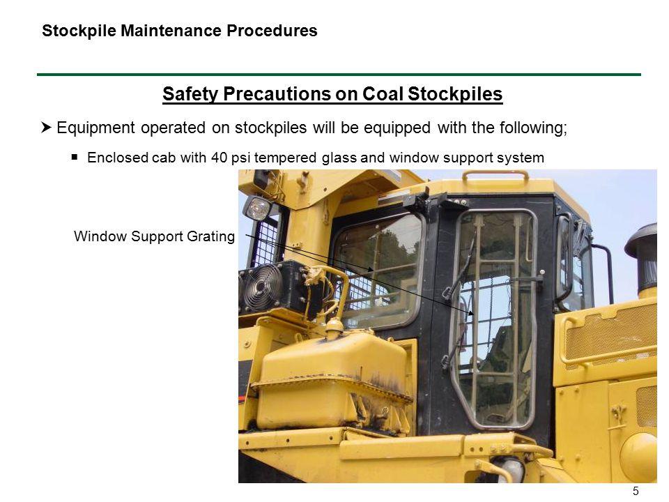 Safety Precautions on Coal Stockpiles