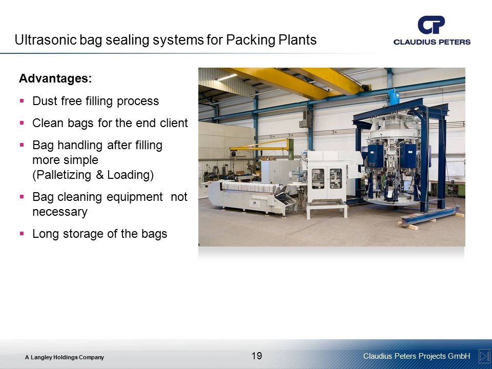 Ultrasonic bag sealing systems for Packing Plants