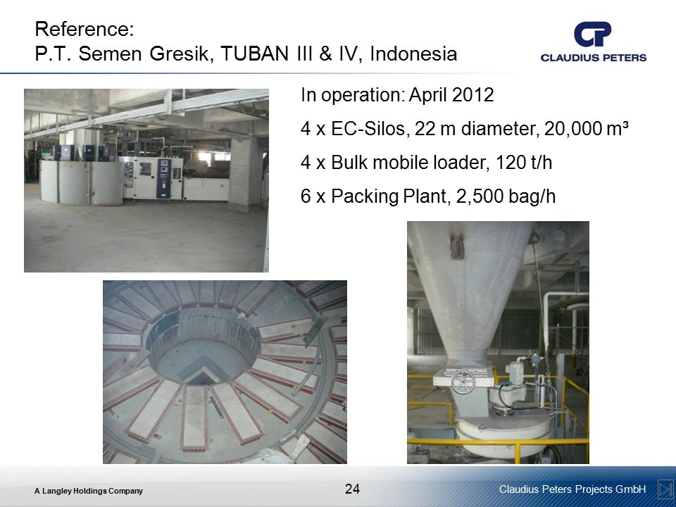Reference: P.T. Semen Gresik, TUBAN III & IV, Indonesia