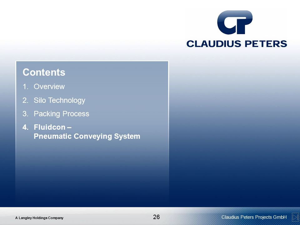 Contents Overview Silo Technology Packing Process