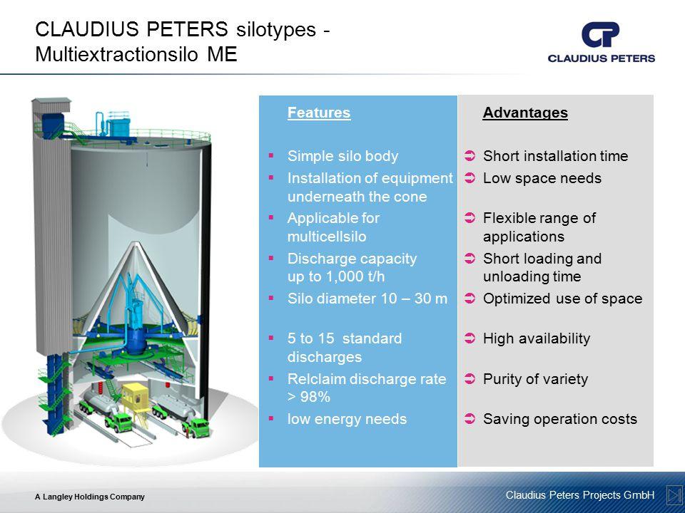 CLAUDIUS PETERS silotypes - Multiextractionsilo ME