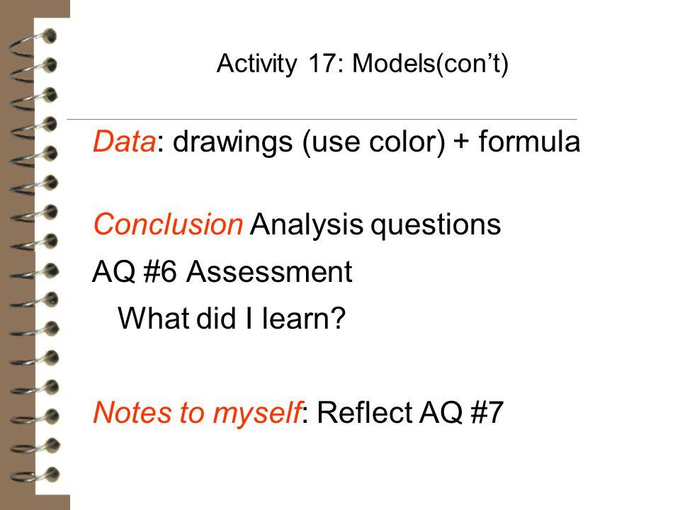 Activity 17: Models(con't)