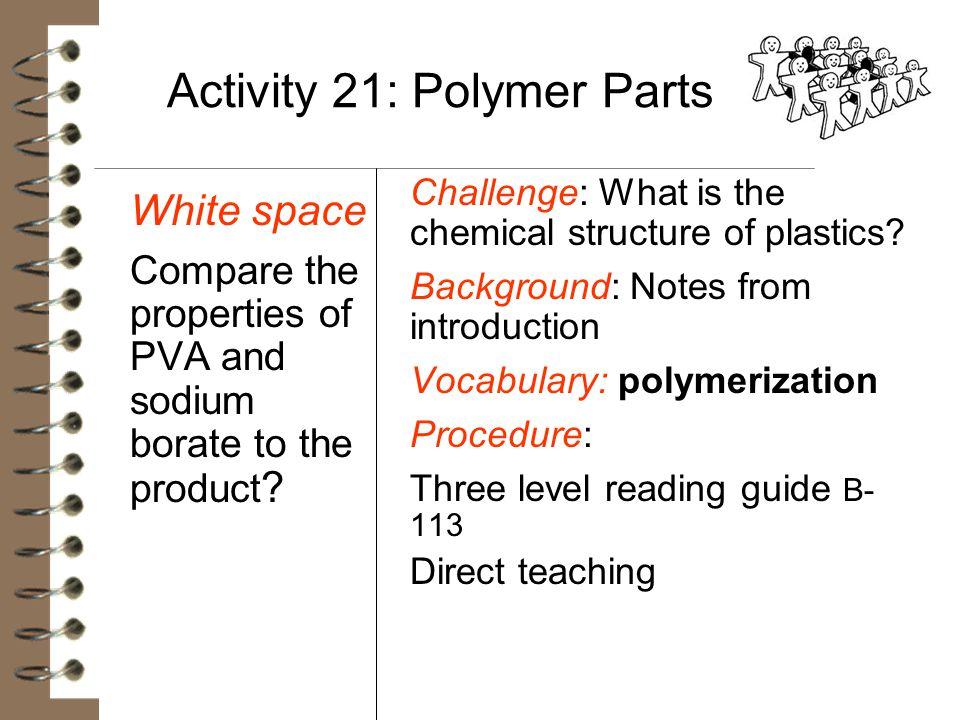 Activity 21: Polymer Parts