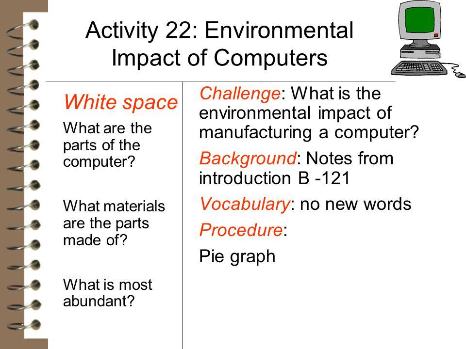 Activity 22: Environmental Impact of Computers