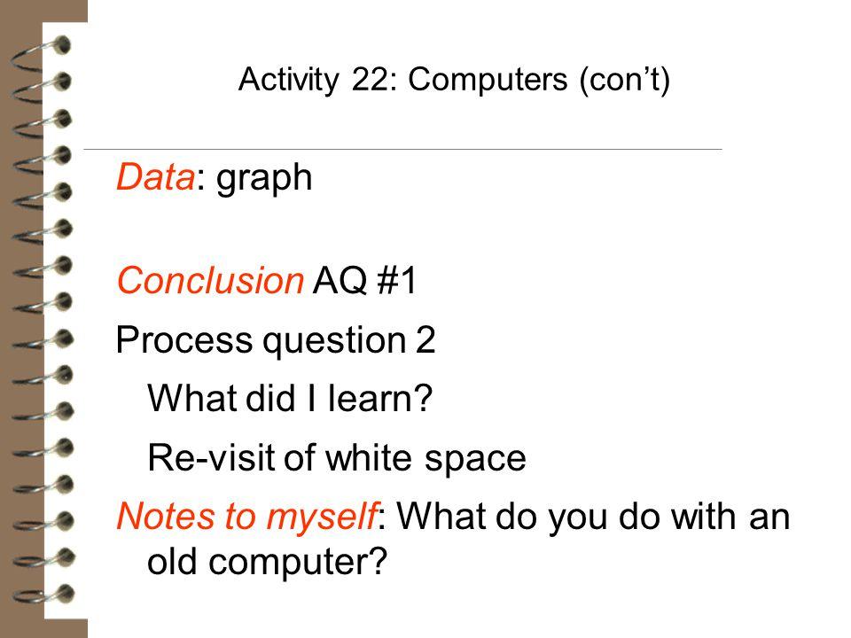 Activity 22: Computers (con't)