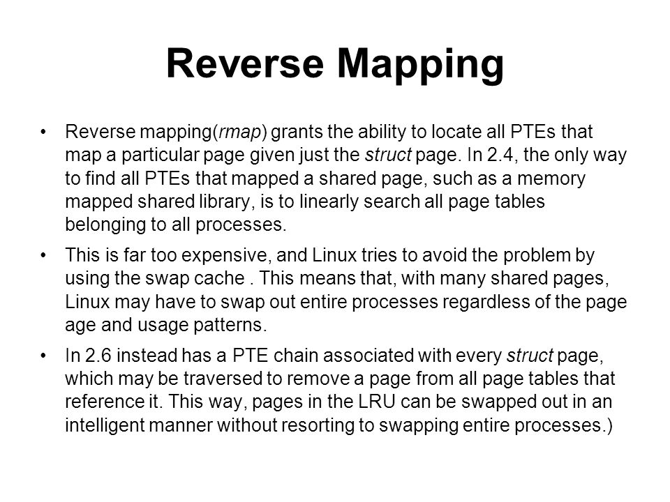 Reverse Mapping