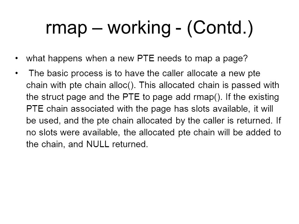 rmap – working - (Contd.)