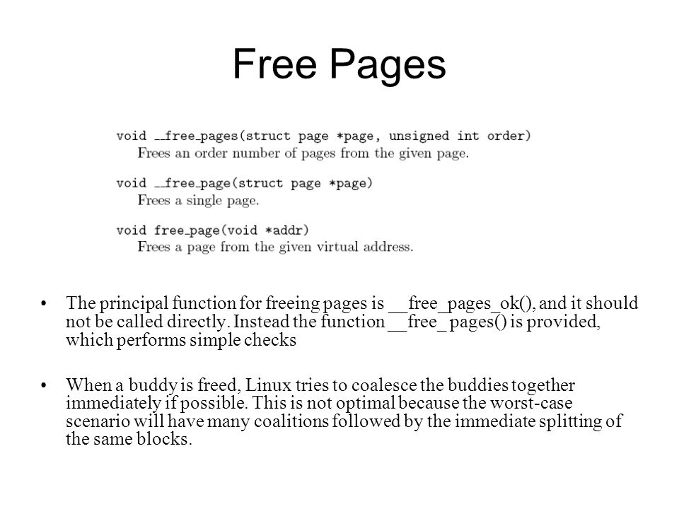 Free Pages
