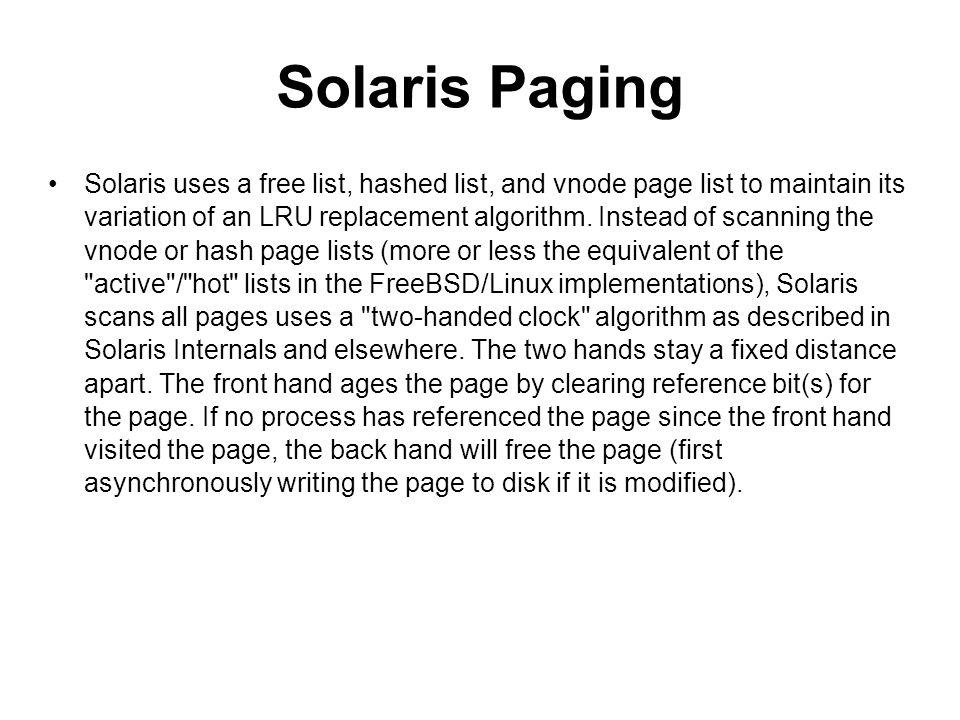 Solaris Paging