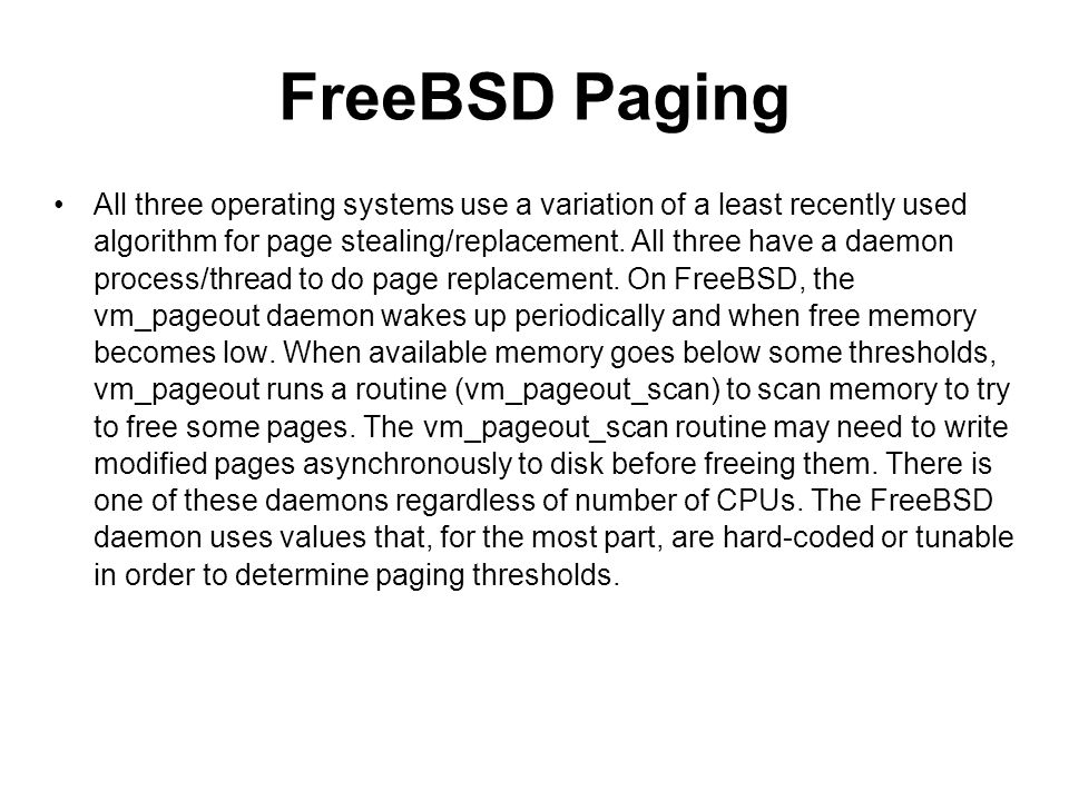 FreeBSD Paging