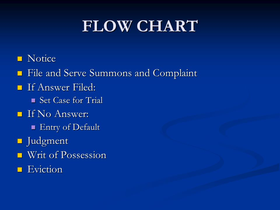 FLOW CHART Notice File and Serve Summons and Complaint