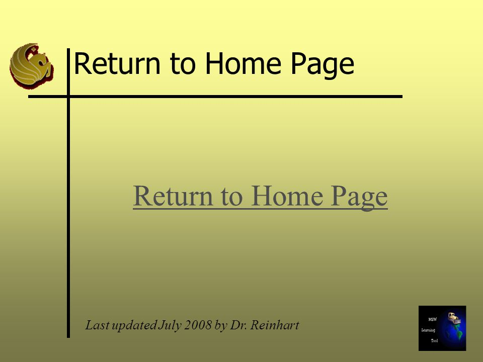 Return to Home Page Return to Home Page