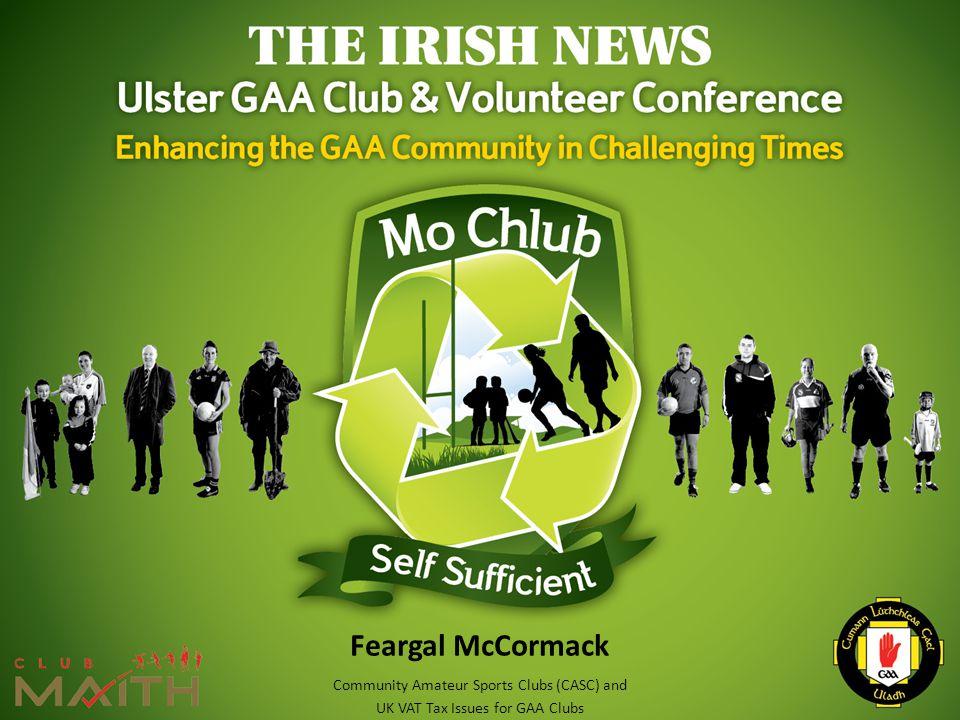 Feargal McCormack Community Amateur Sports Clubs (CASC) and