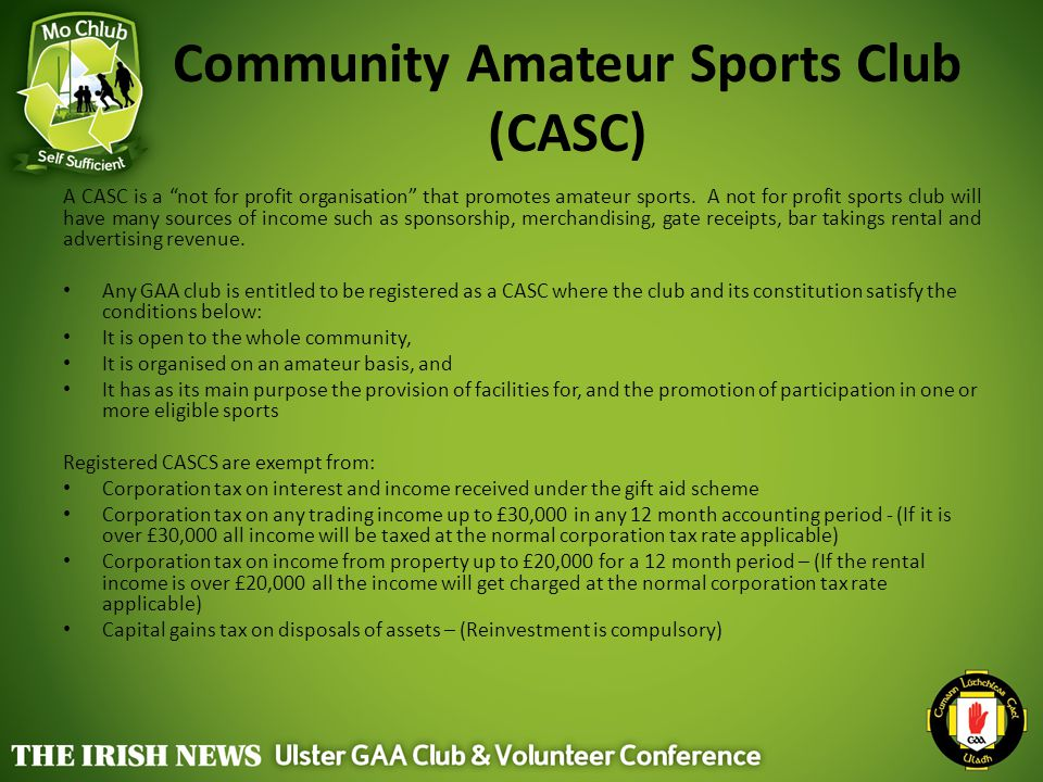 Community Amateur Sports Club (CASC)