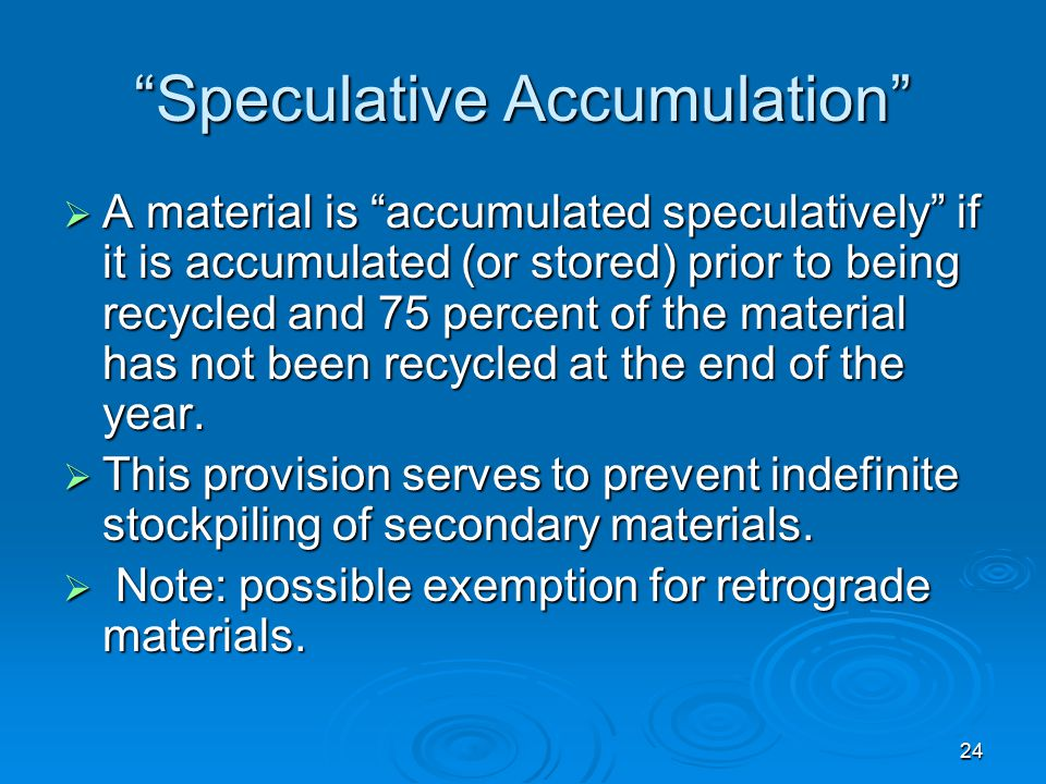 Speculative Accumulation