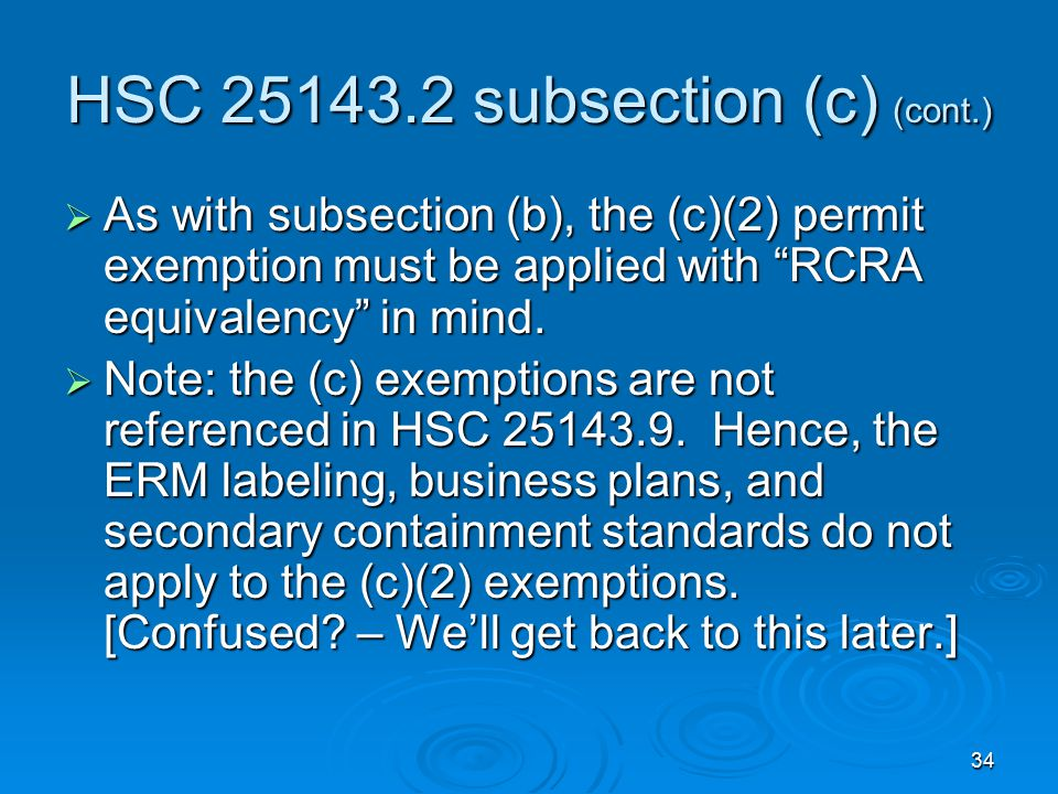 HSC 25143.2 subsection (c) (cont.)