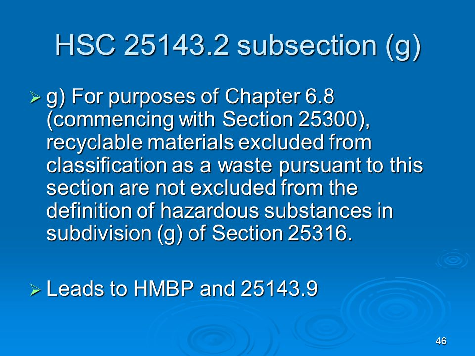 HSC 25143.2 subsection (g)