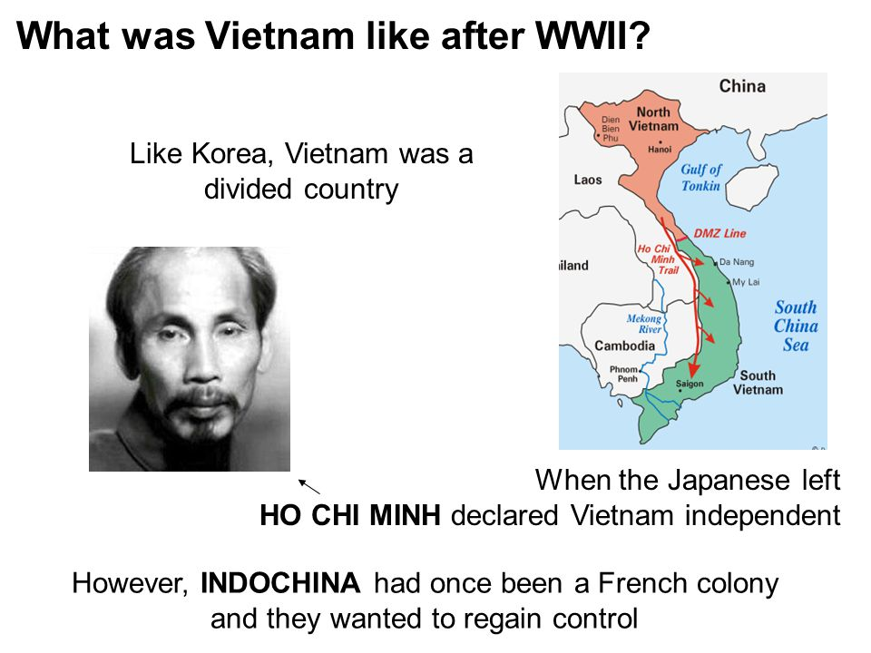 Like Korea, Vietnam was a divided country