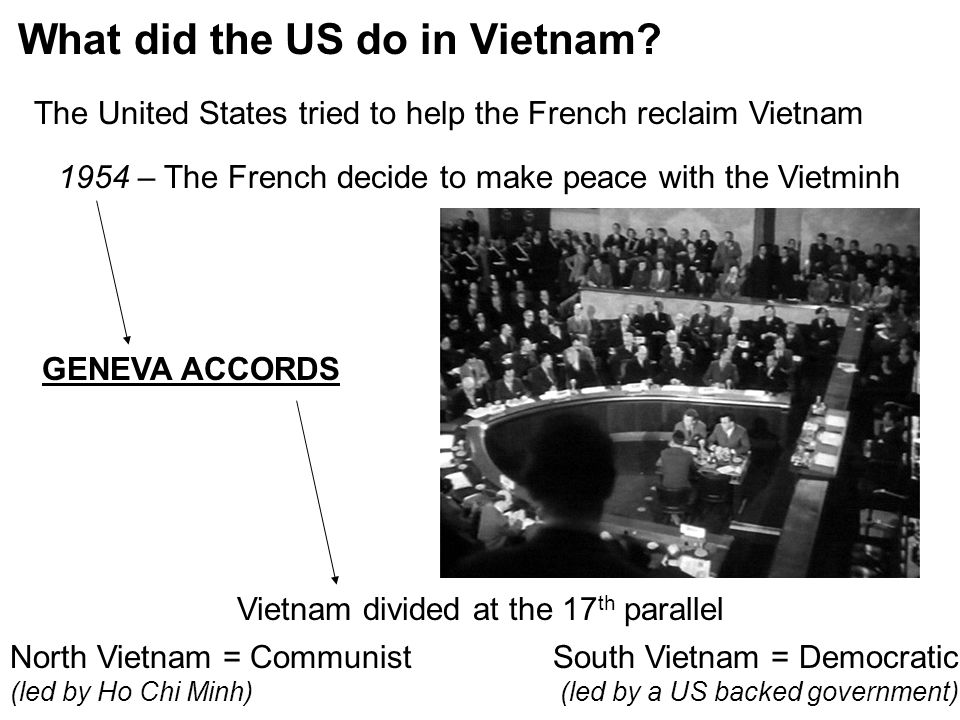 Vietnam divided at the 17th parallel