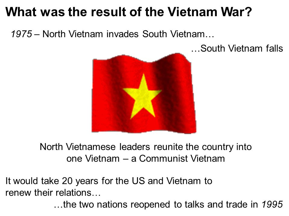 What was the result of the Vietnam War