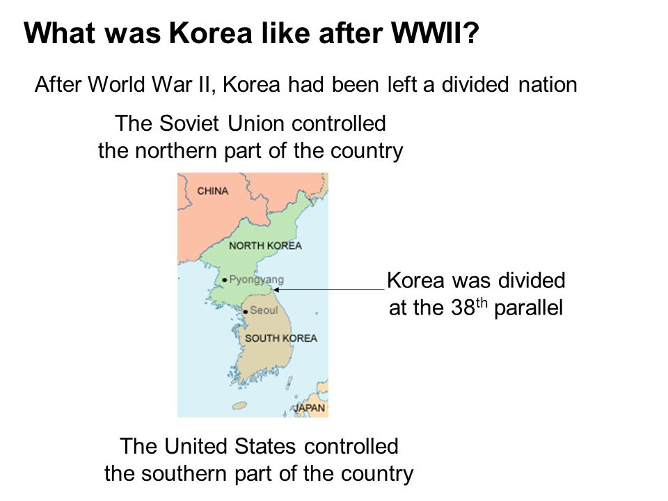 What was Korea like after WWII