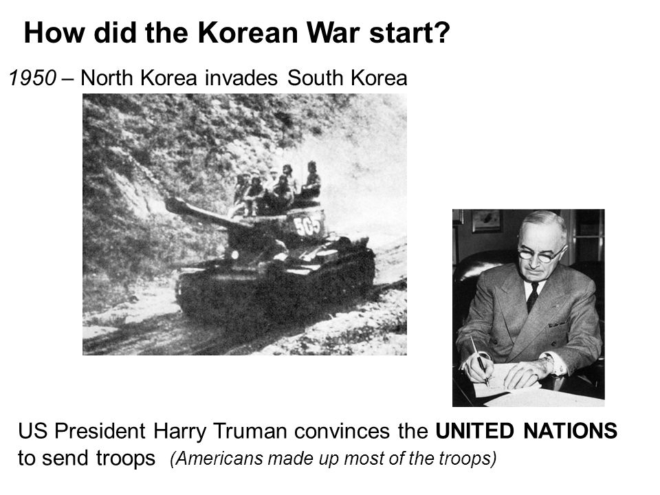How did the Korean War start