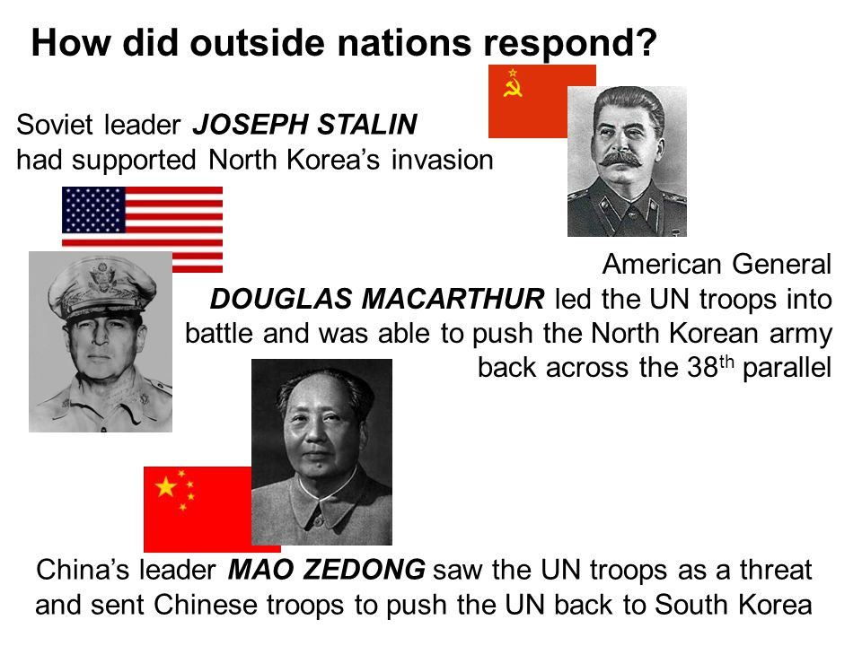How did outside nations respond