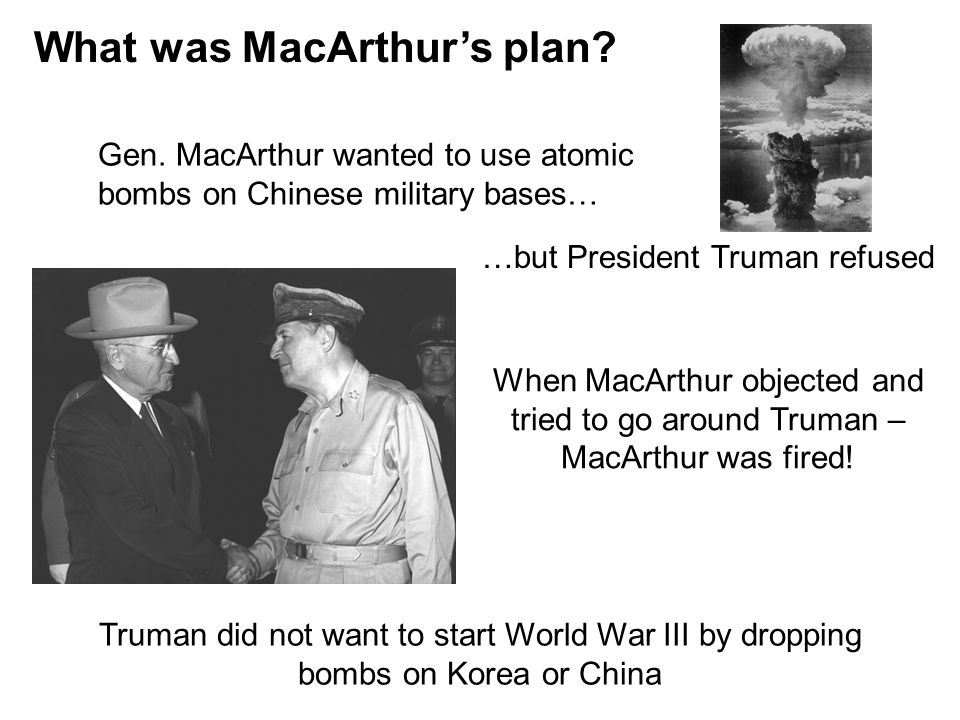 What was MacArthur's plan