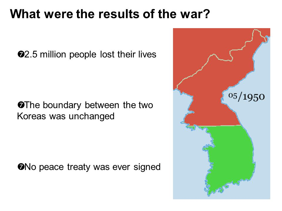 What were the results of the war