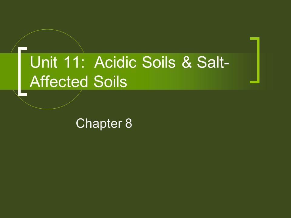 Unit 11: Acidic Soils & Salt-Affected Soils