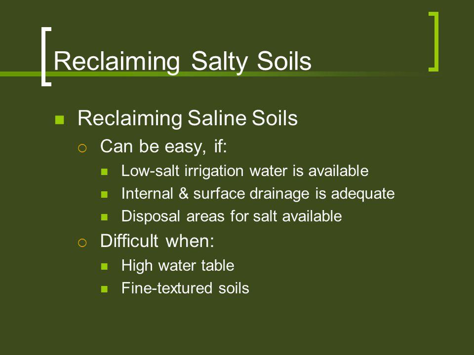 Reclaiming Salty Soils