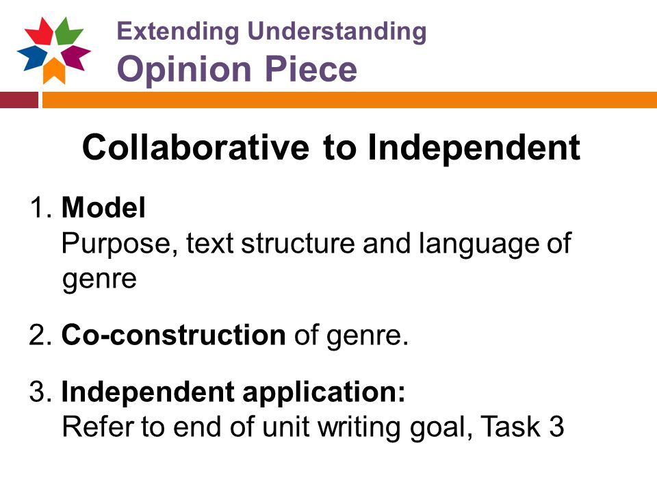 Extending Understanding Opinion Piece