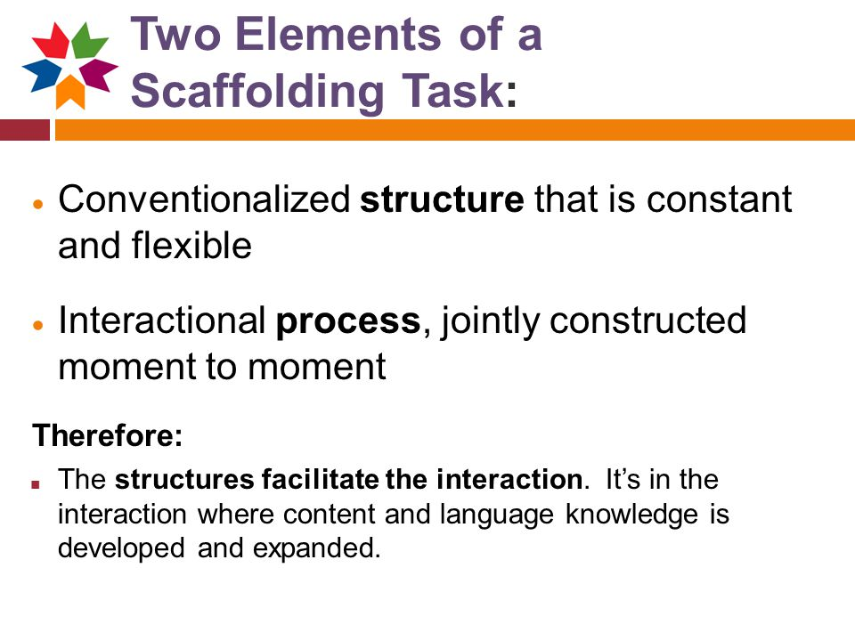 Two Elements of a Scaffolding Task: