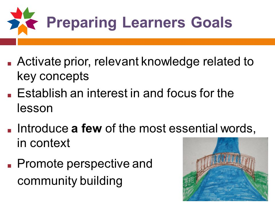 Preparing Learners Goals