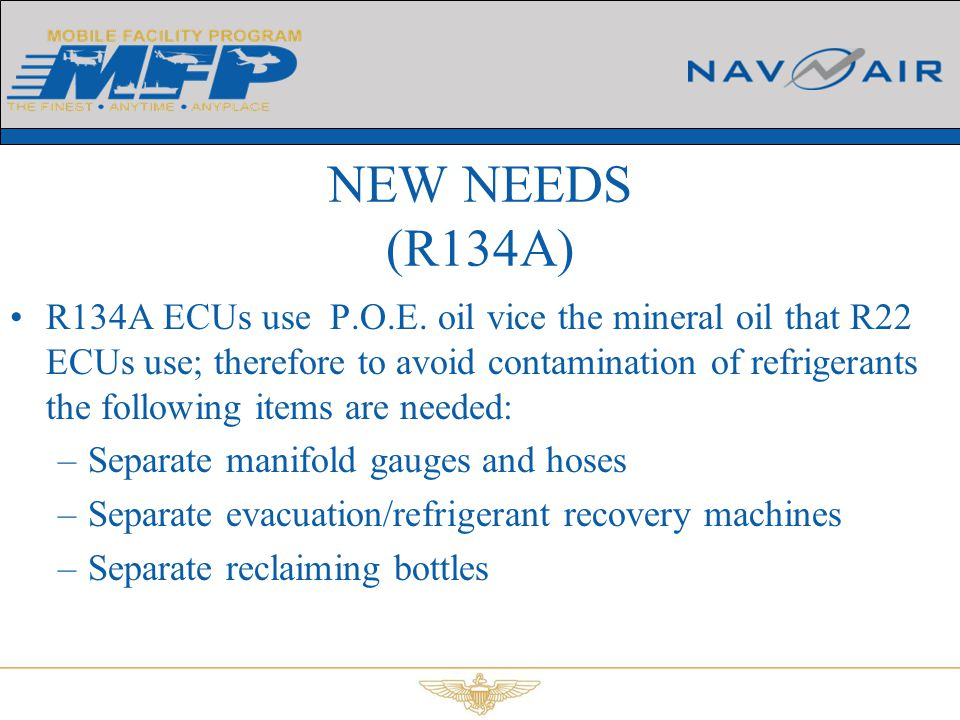 NEW NEEDS (R134A)