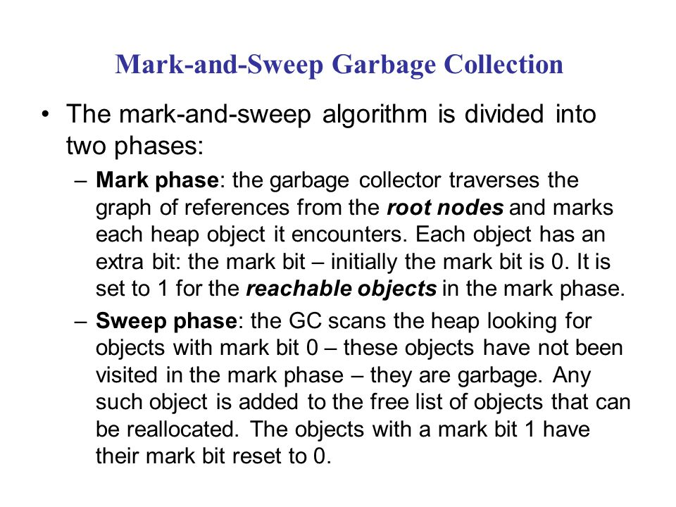 Mark-and-Sweep Garbage Collection