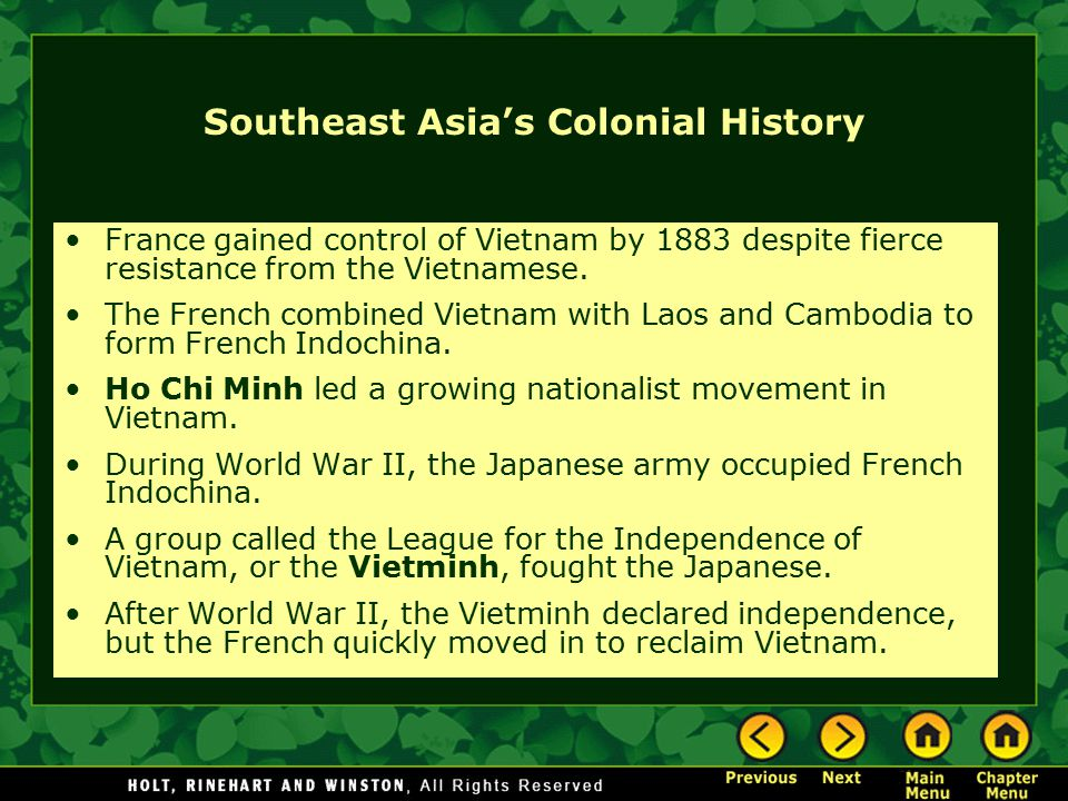 Southeast Asia's Colonial History