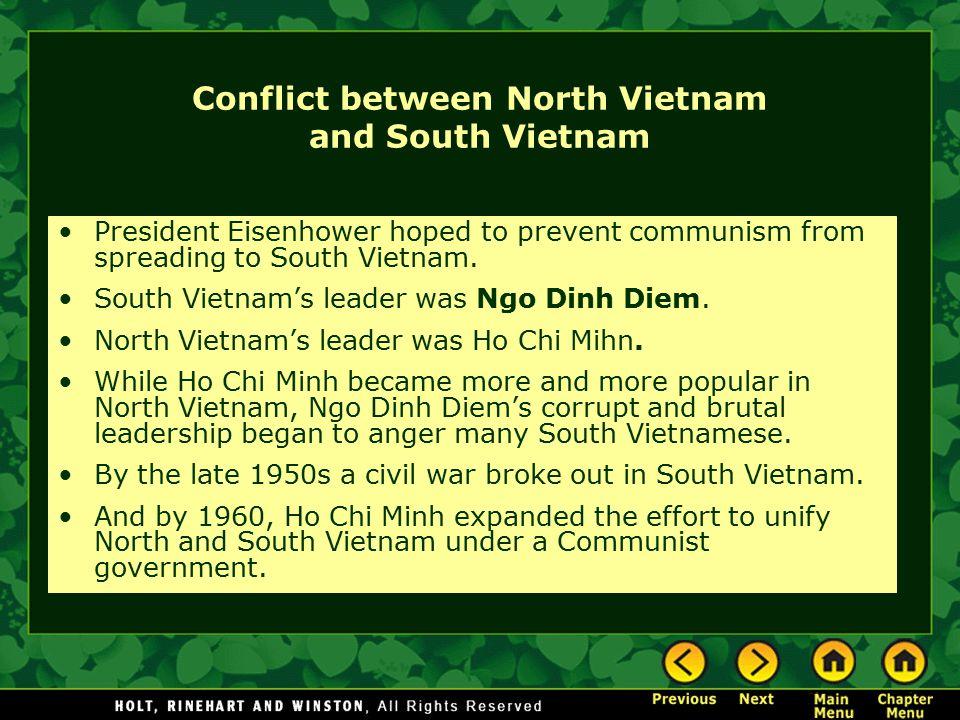Conflict between North Vietnam and South Vietnam