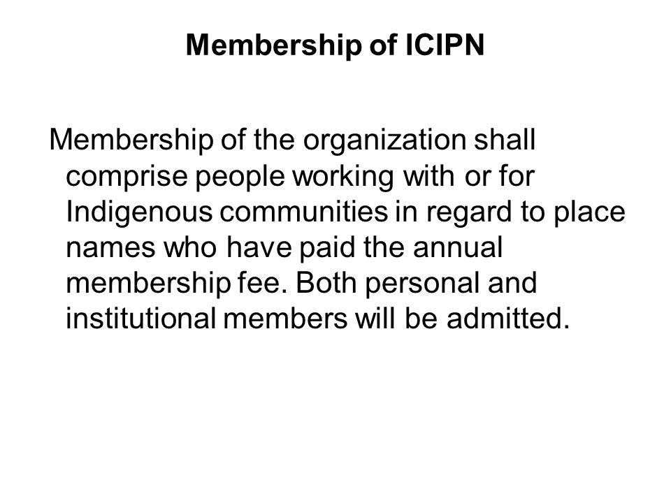 Membership of ICIPN