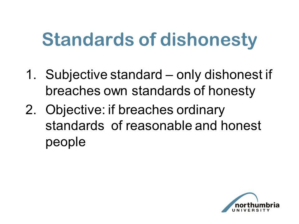 Standards of dishonesty