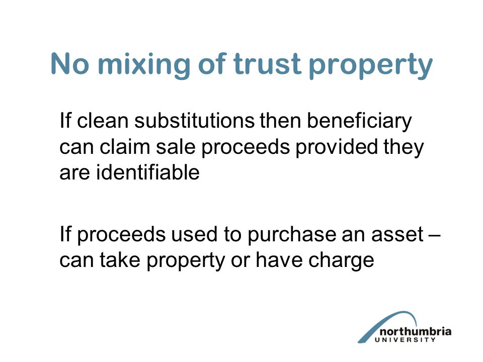 No mixing of trust property