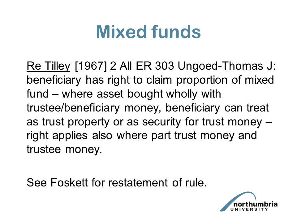 Mixed funds