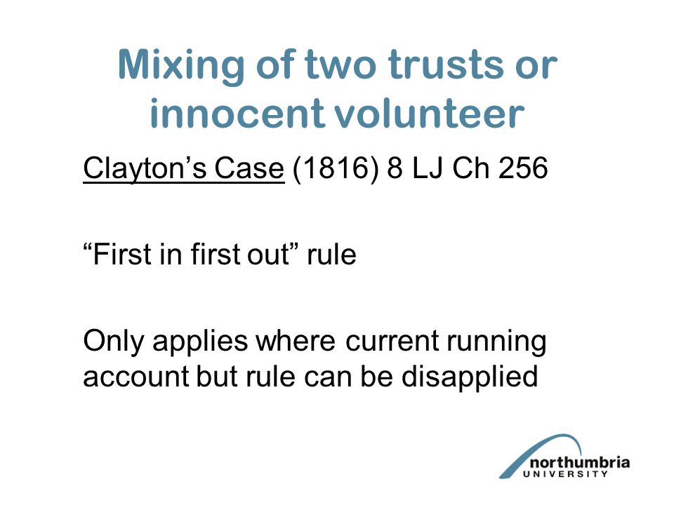 Mixing of two trusts or innocent volunteer
