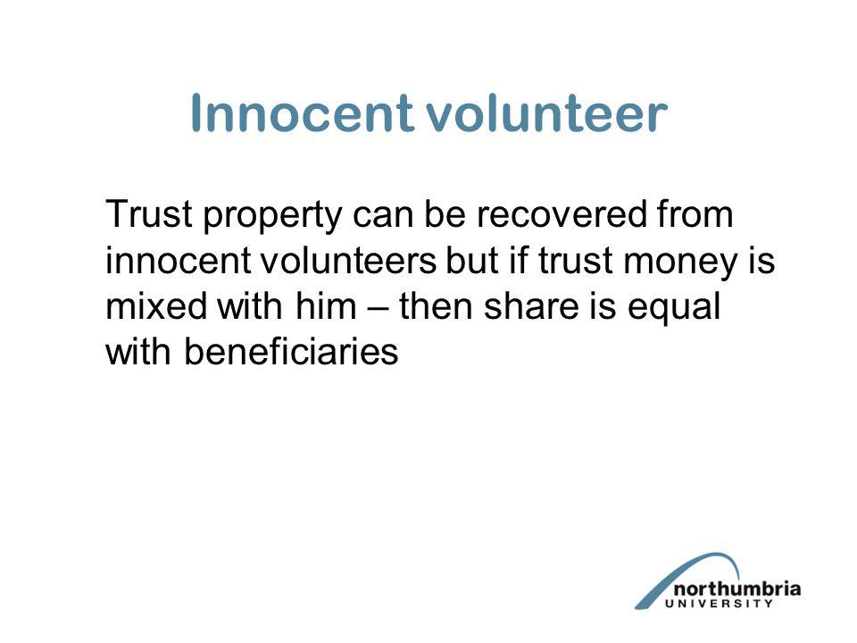 Innocent volunteer