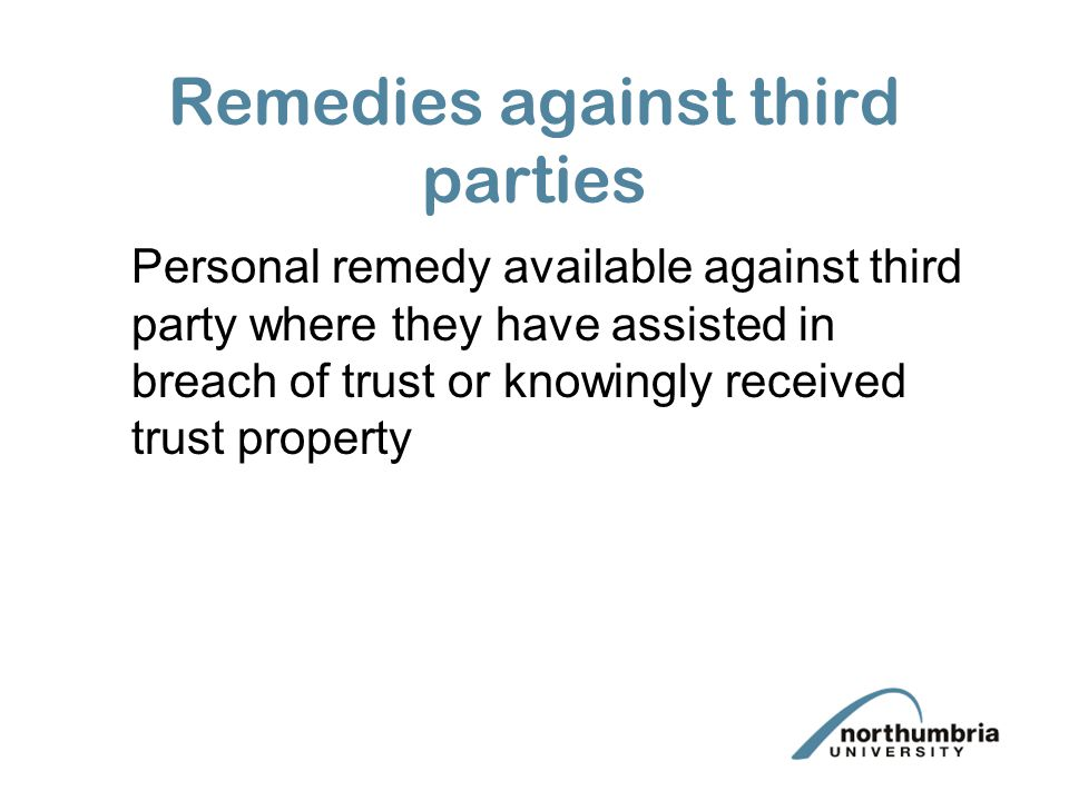 Remedies against third parties