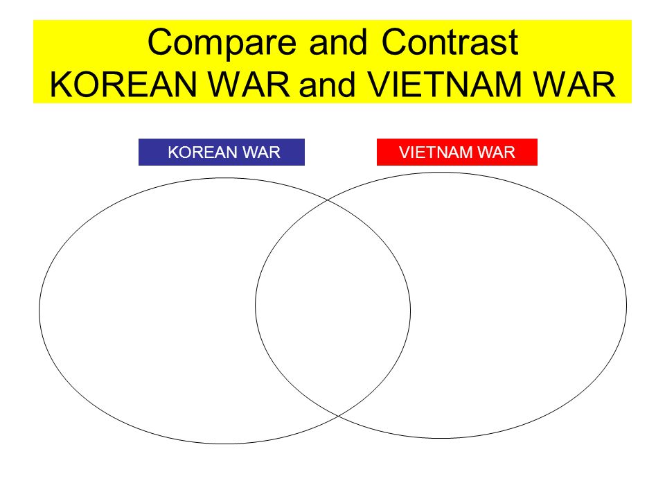 Compare and Contrast KOREAN WAR and VIETNAM WAR