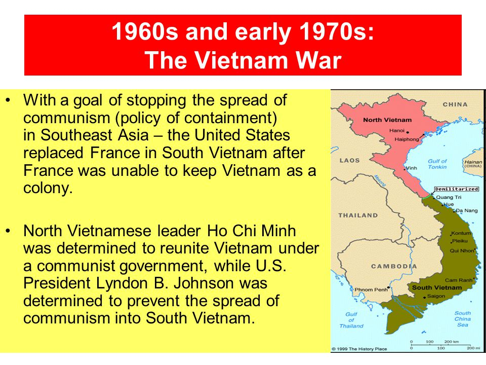 1960s and early 1970s: The Vietnam War