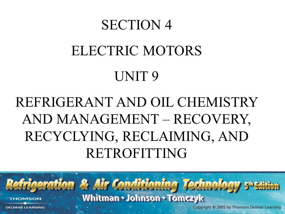 SECTION 4 ELECTRIC MOTORS. UNIT 9.