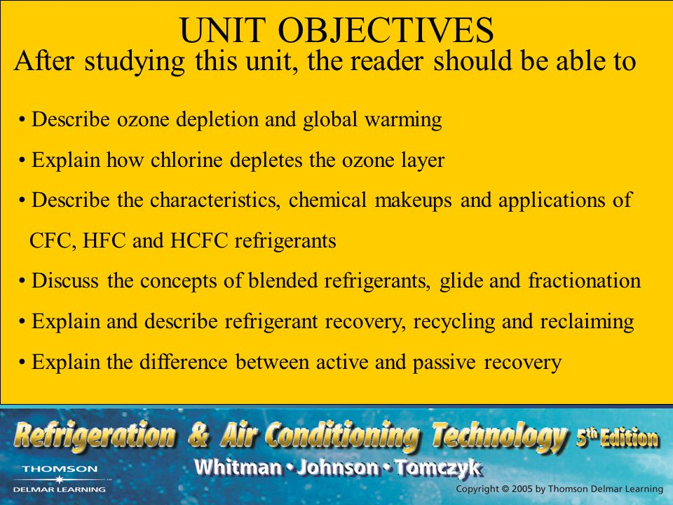 UNIT OBJECTIVES Describe ozone depletion and global warming